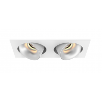 Downlight LED LUCAS orientable double 100